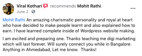 Mohit Rathi Review